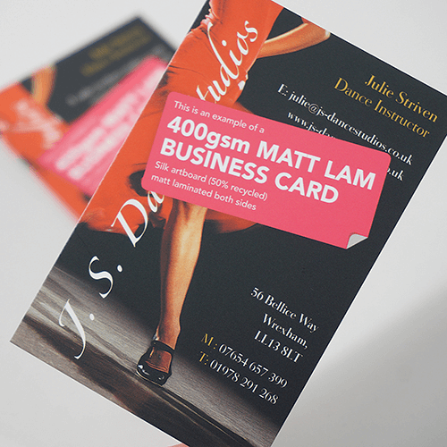 Matt Laminated business cards image