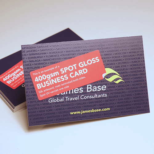 Business cards printing glasgow print design specialist spot gloss uv reheart