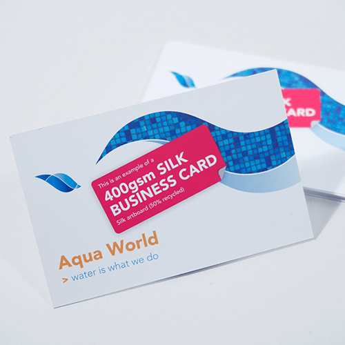 400gsm Silk business cards image