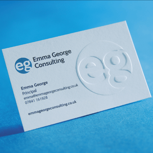 embossed business cards image