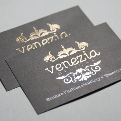 Foil printed business cards image