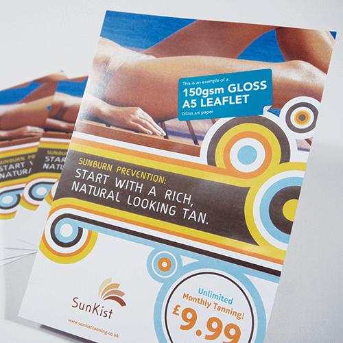 150gsm Gloss leaflets image