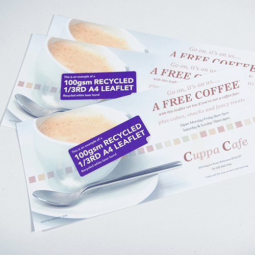 100gsm recycled leaflets image